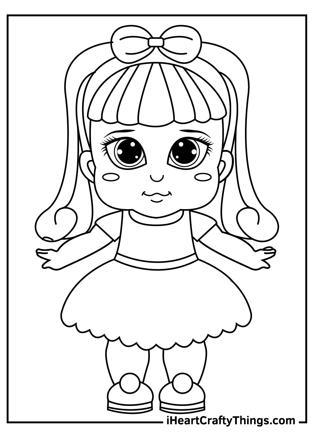 baby dolls coloring pages free printable