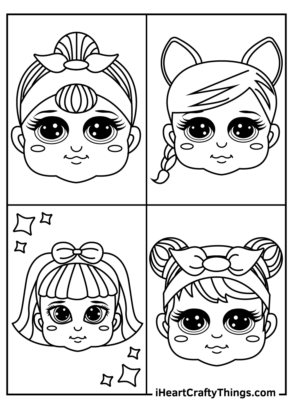 heads of lol dolls coloring pages free printable