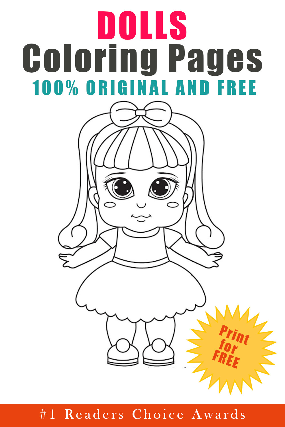 original and free dolls coloring pages