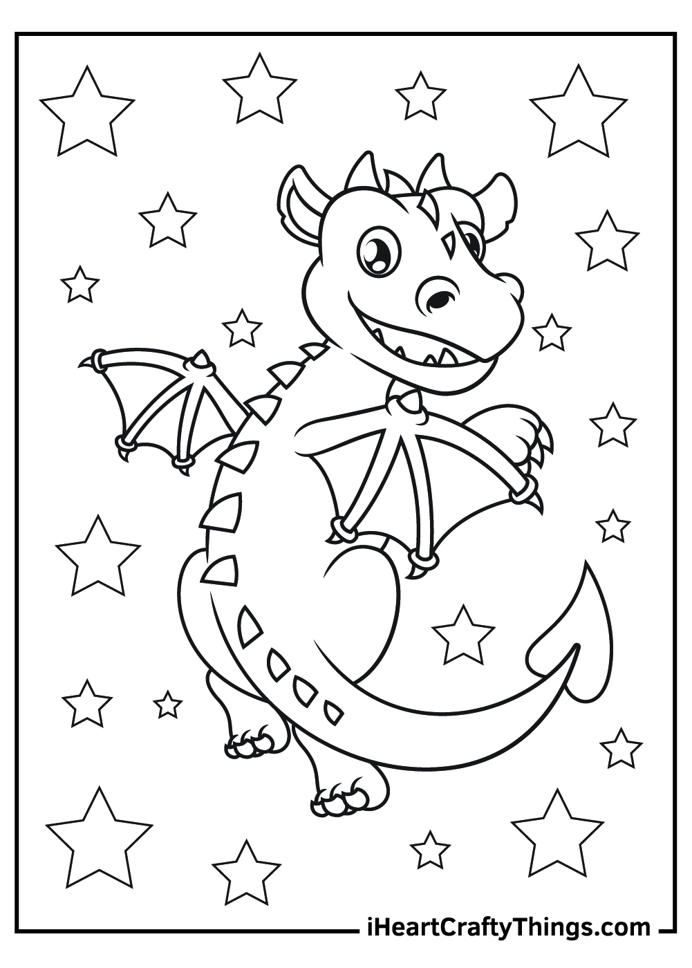 baby dragon coloring pages free printable