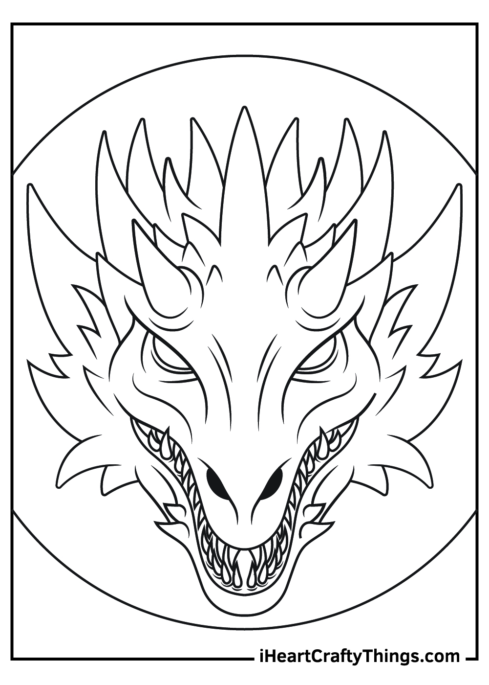 scary dragon coloring pages free printable