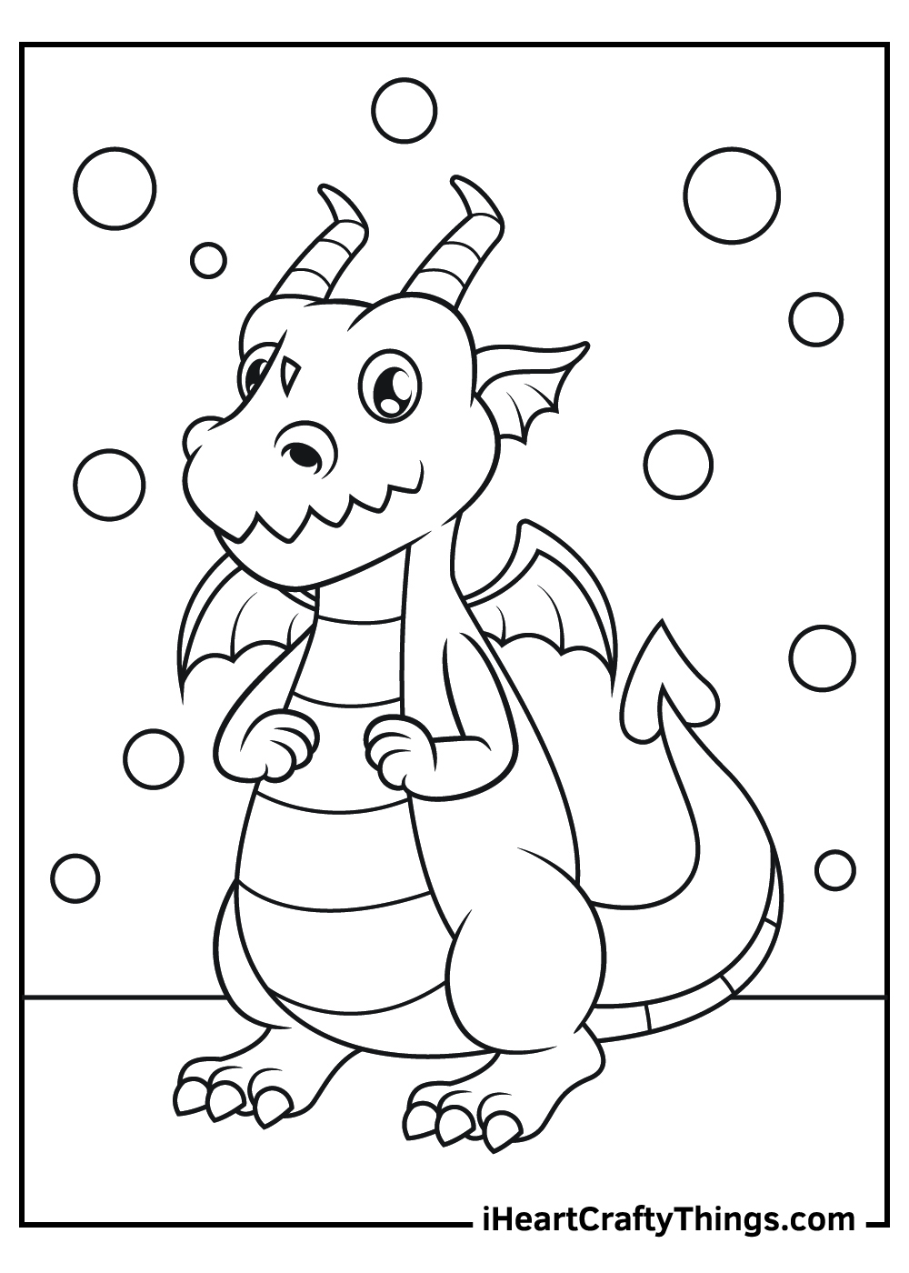 cute baby dragon coloring pages free printable
