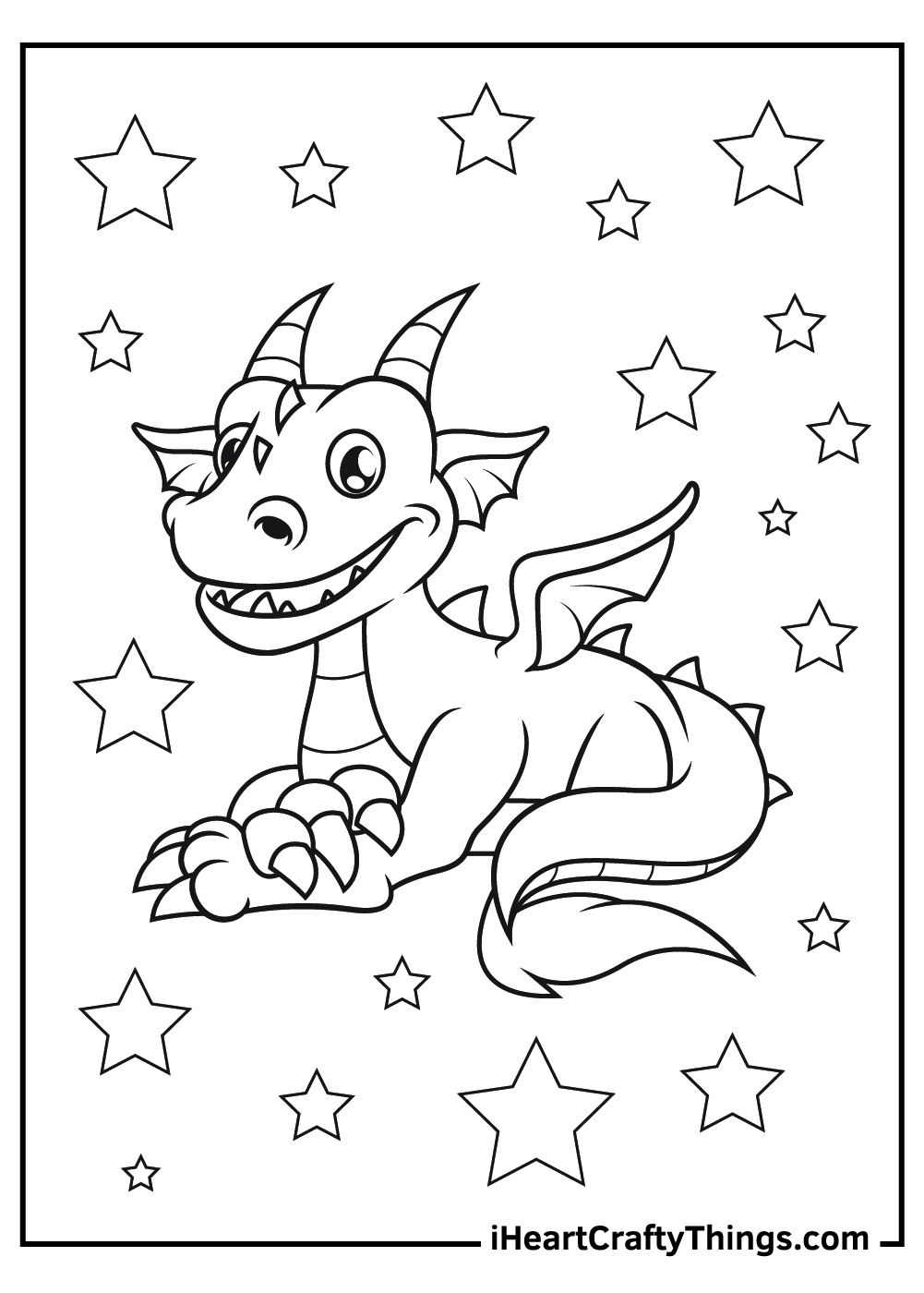 funny dragon coloring pages free printable