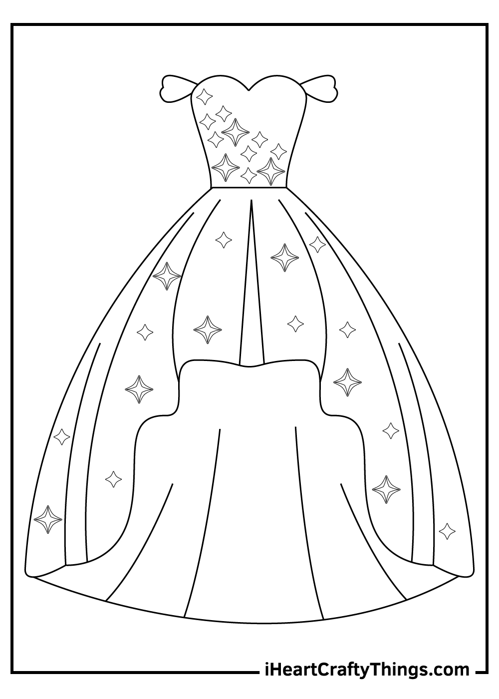 prom dress coloring pages free printable