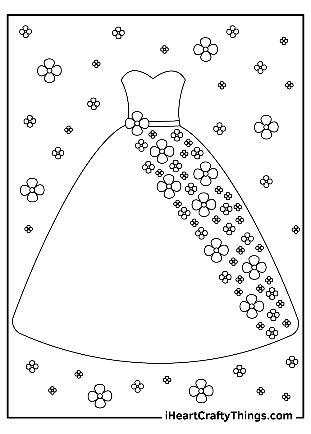 fashion dress coloring pages free printable