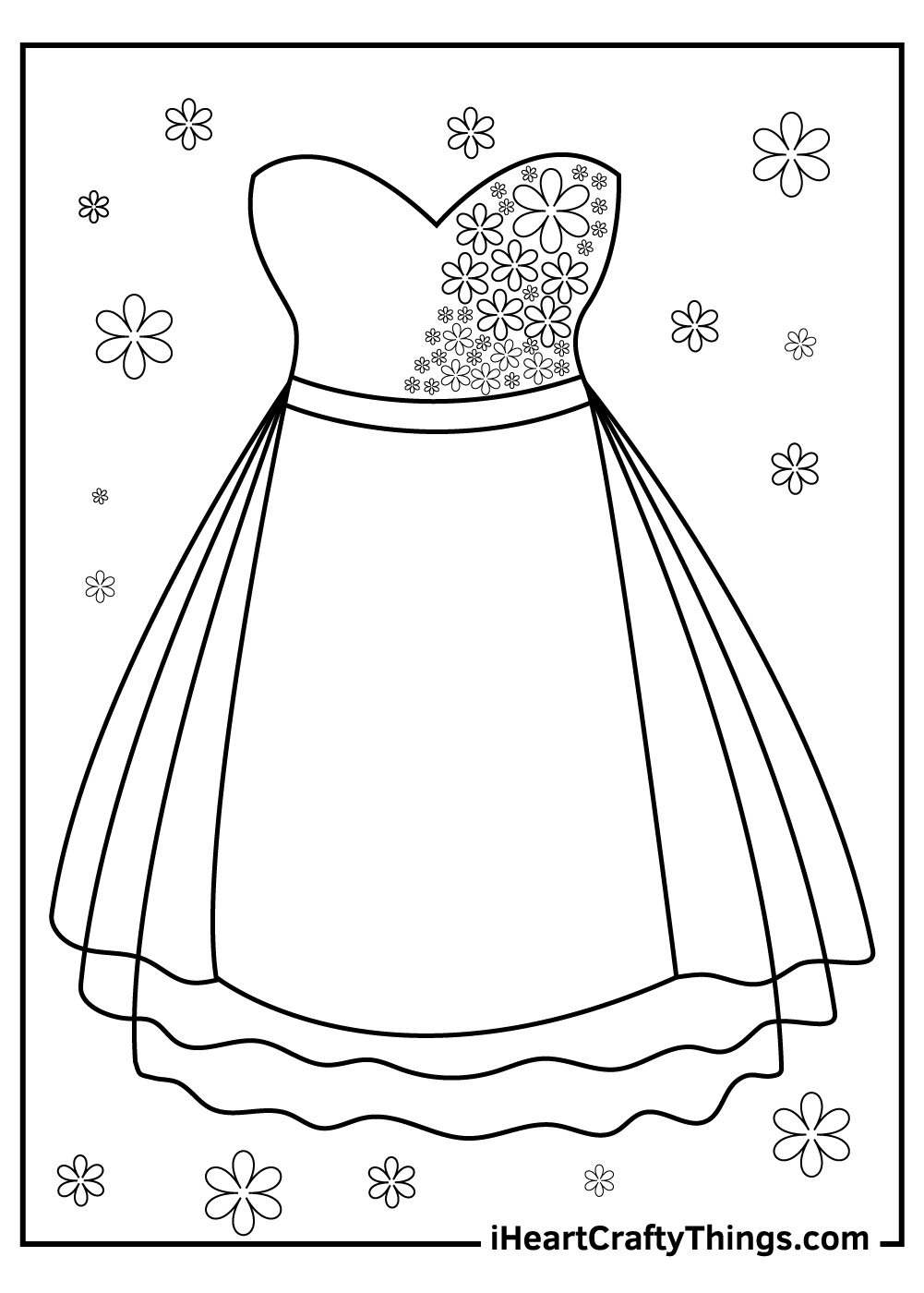 princess dress coloring pages free download