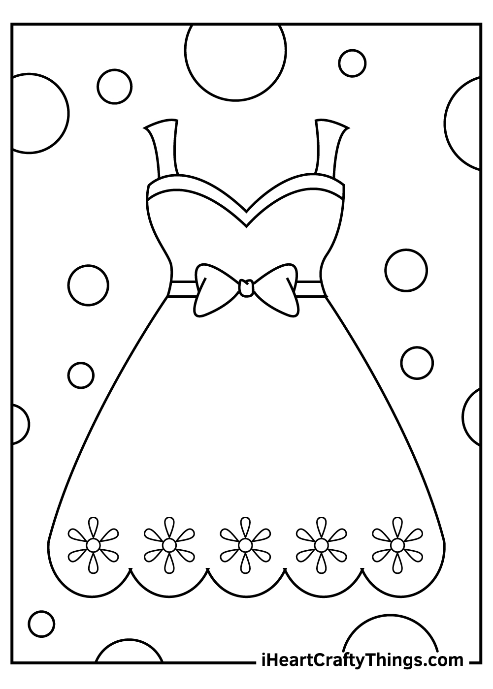 barbie dress coloring pages free print