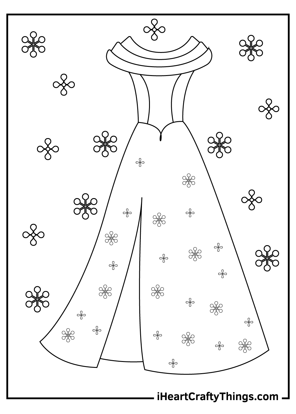 fancy dress coloring pages free printable