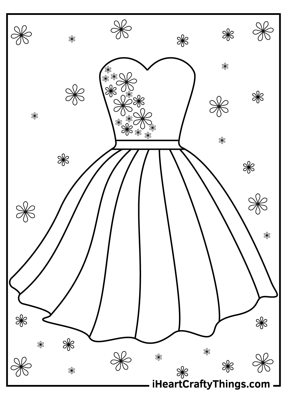 party dress coloring pages free download