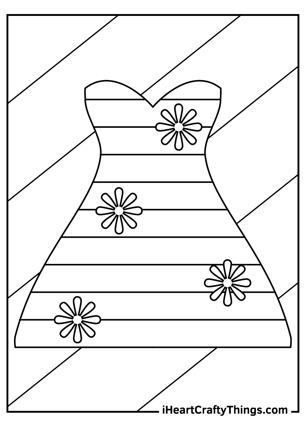 beautiful dress coloring pages
