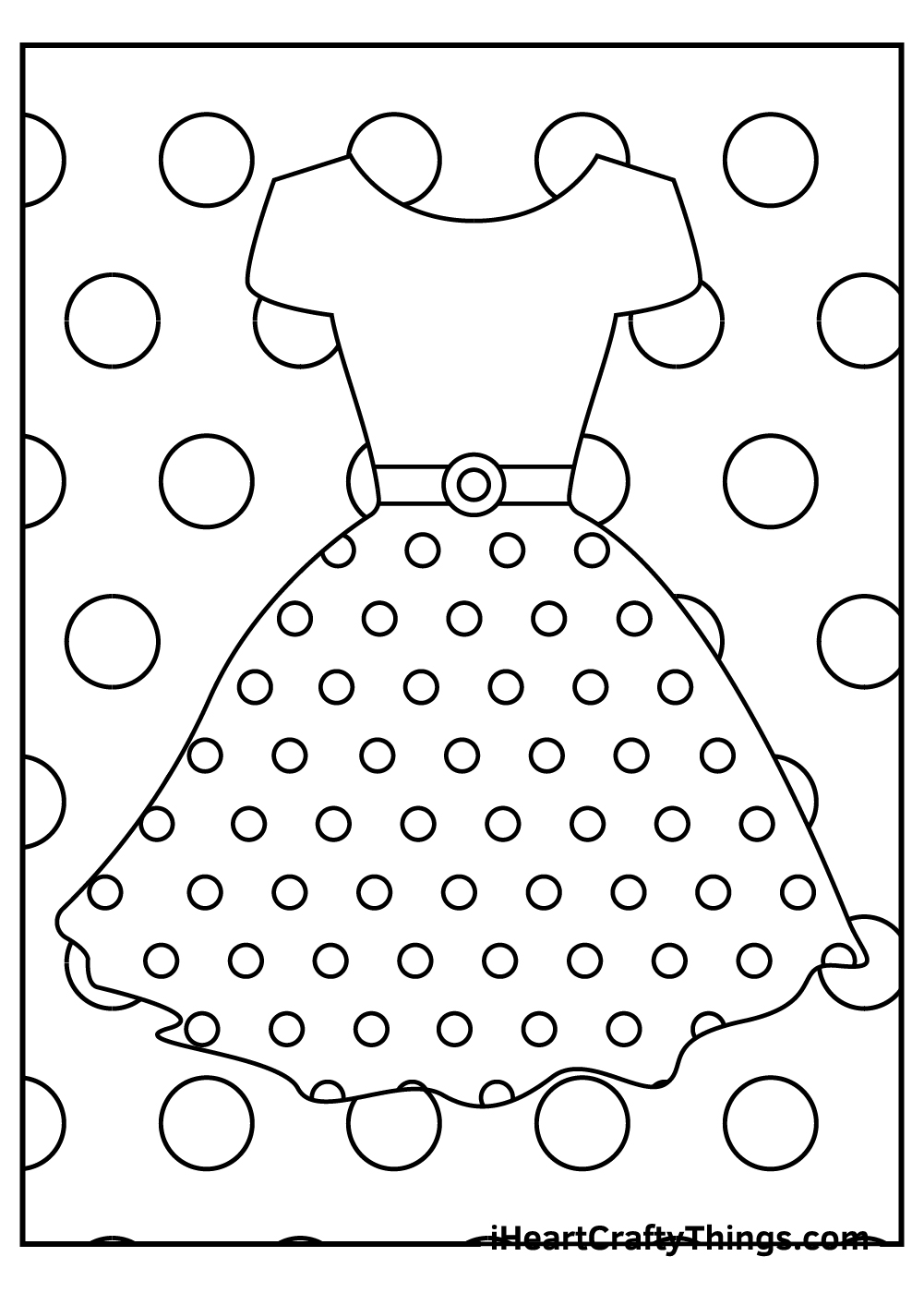 cute girl's dress coloring pages for kids