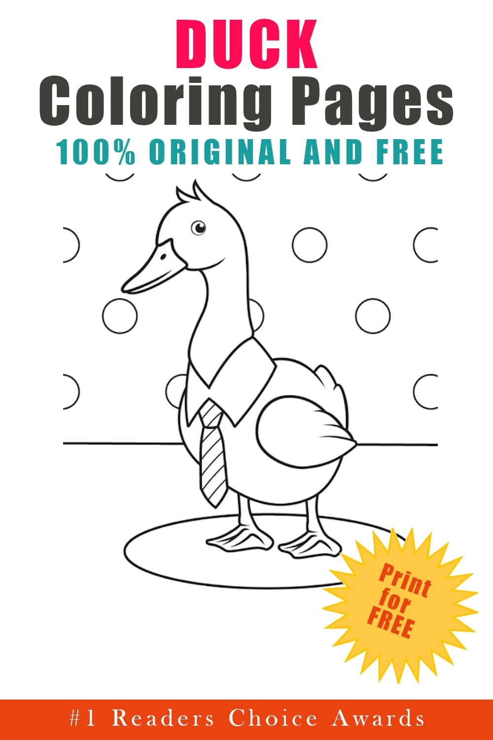original and free duck coloring pages