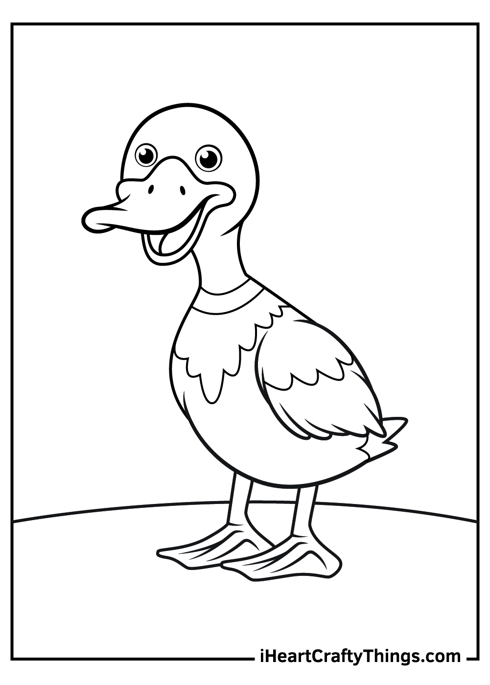 cute duck coloring pages free download