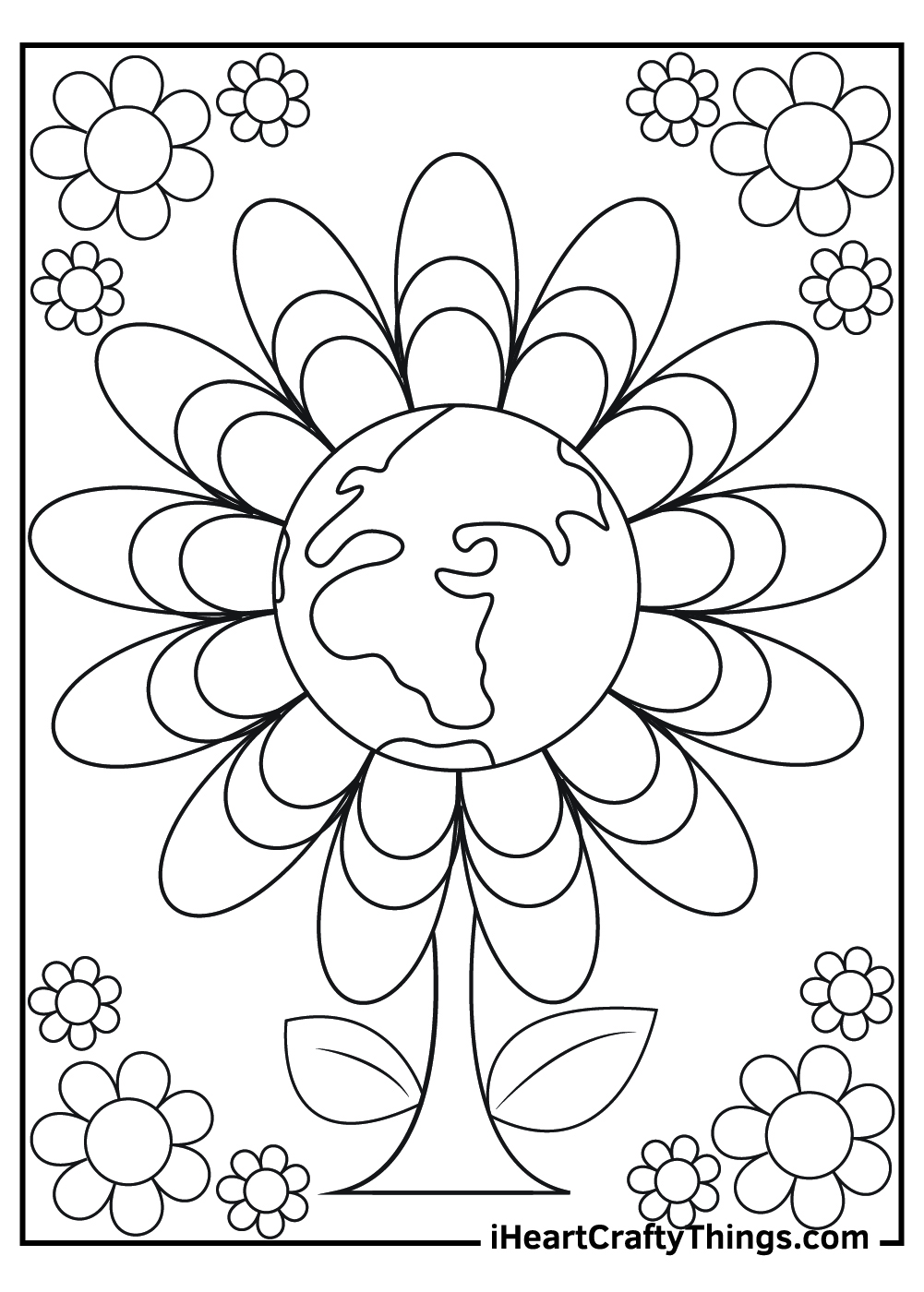 earth day coloring pages for preschoolers