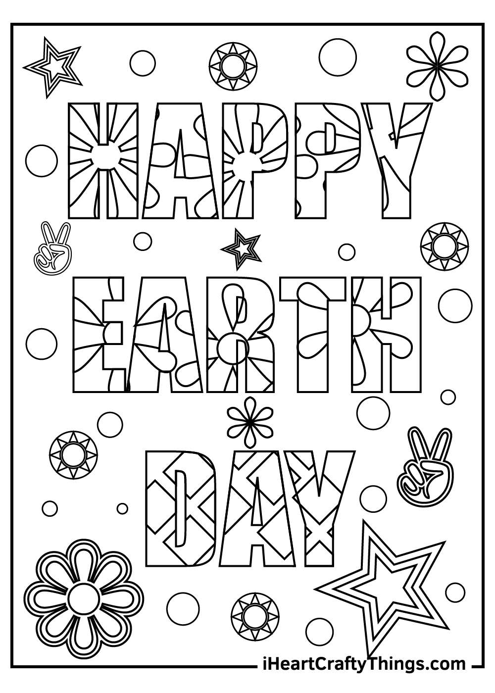 happy earth day coloring pages for preschoolers