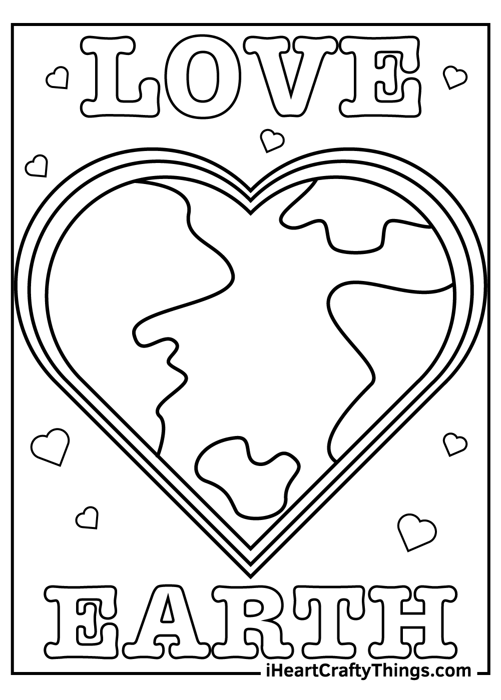 love earth day coloring pages free printable
