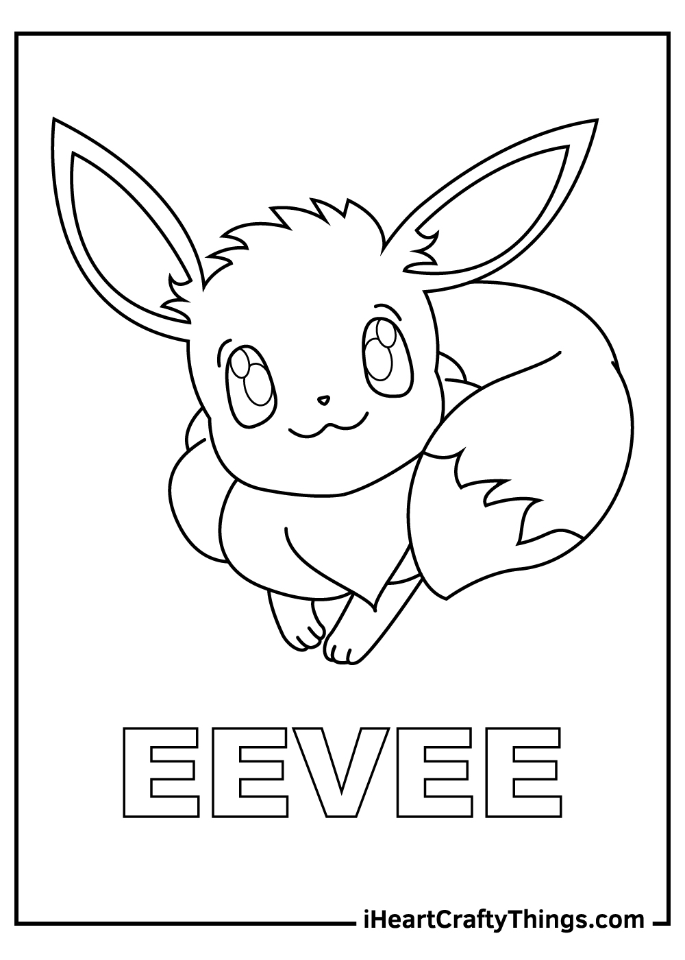adult eevee pokemon coloring pages