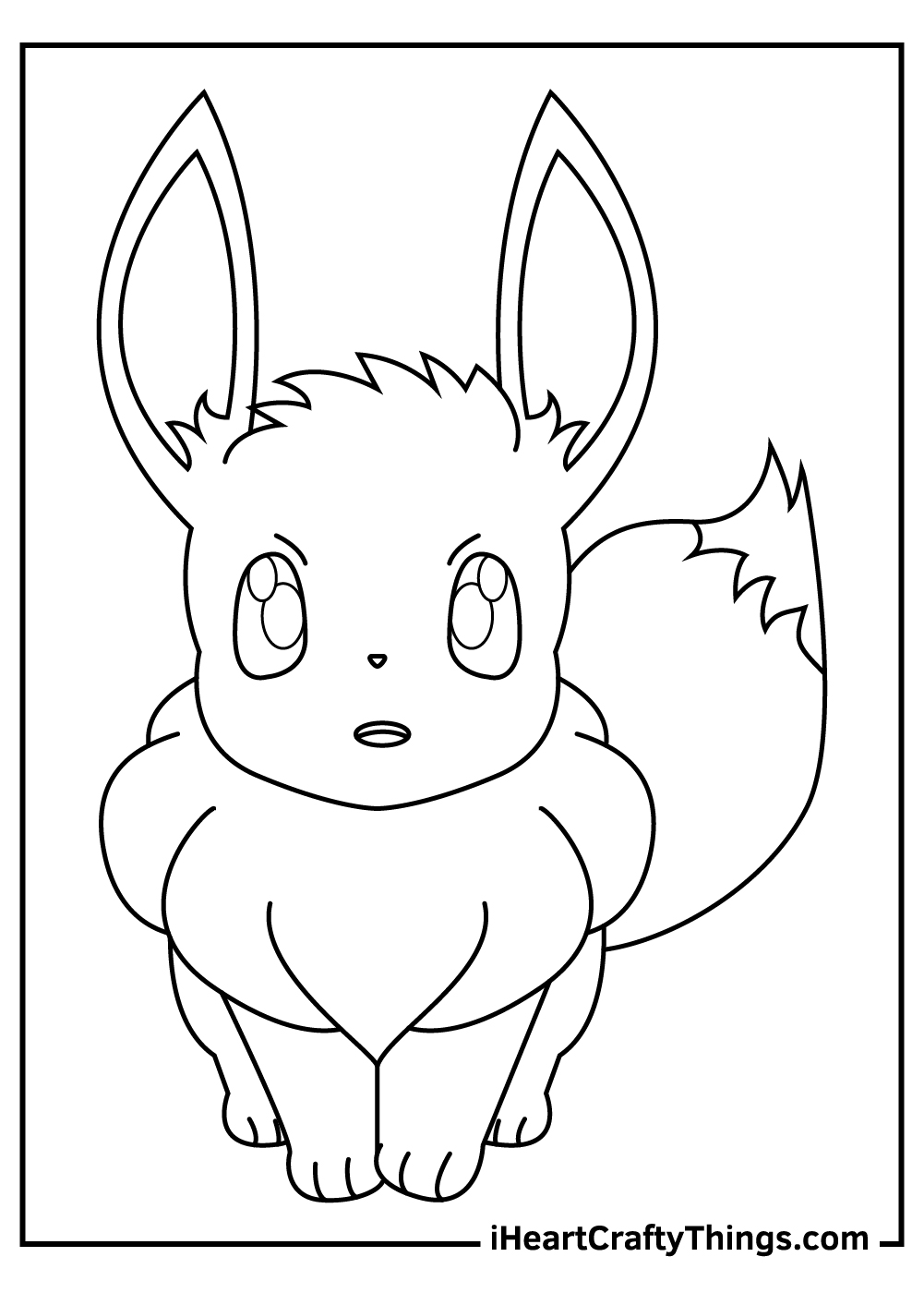 eevee pokemon coloring pages free printable