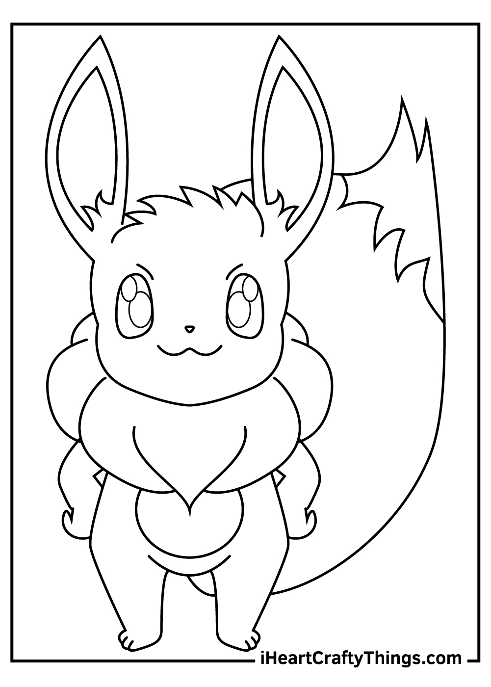 eevee pokemon coloring pages for kids