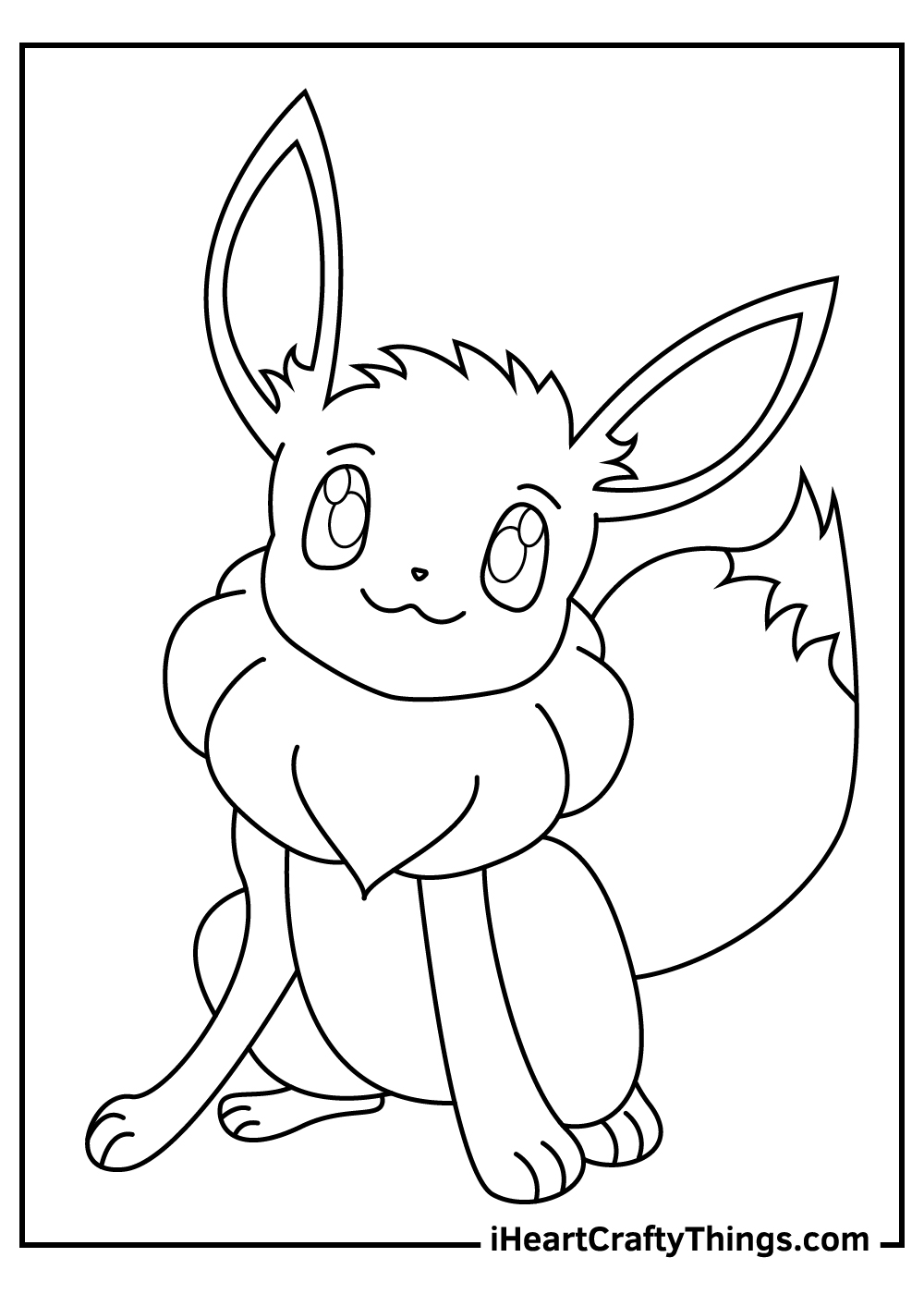 adorable eevee pokemon coloring sheets free pdf