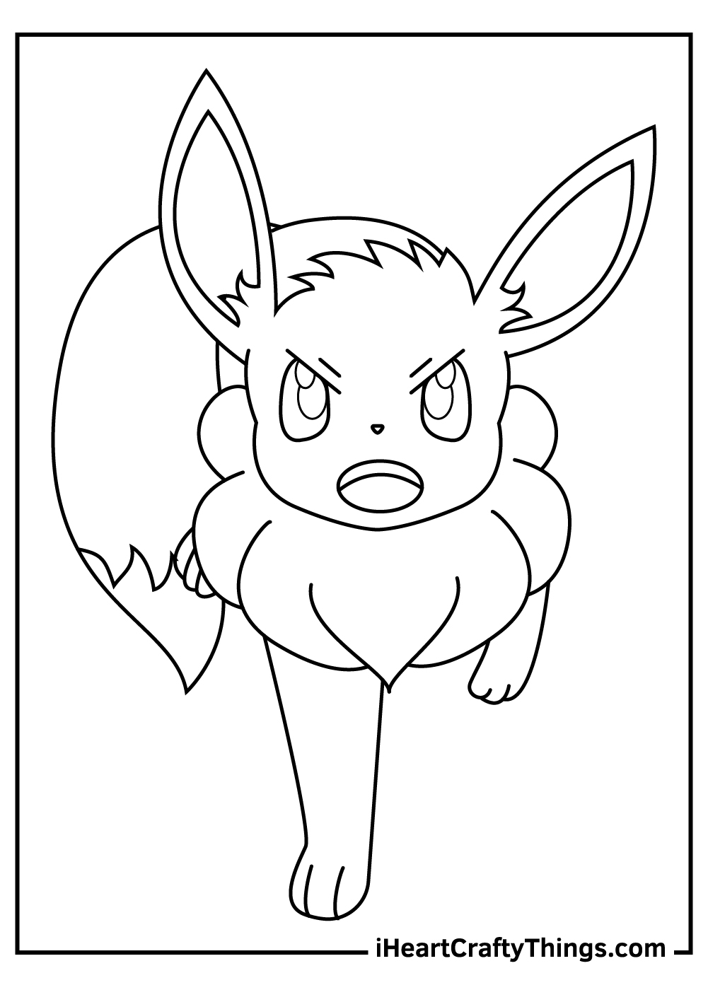 cute eevee pokemon coloring pages free to download