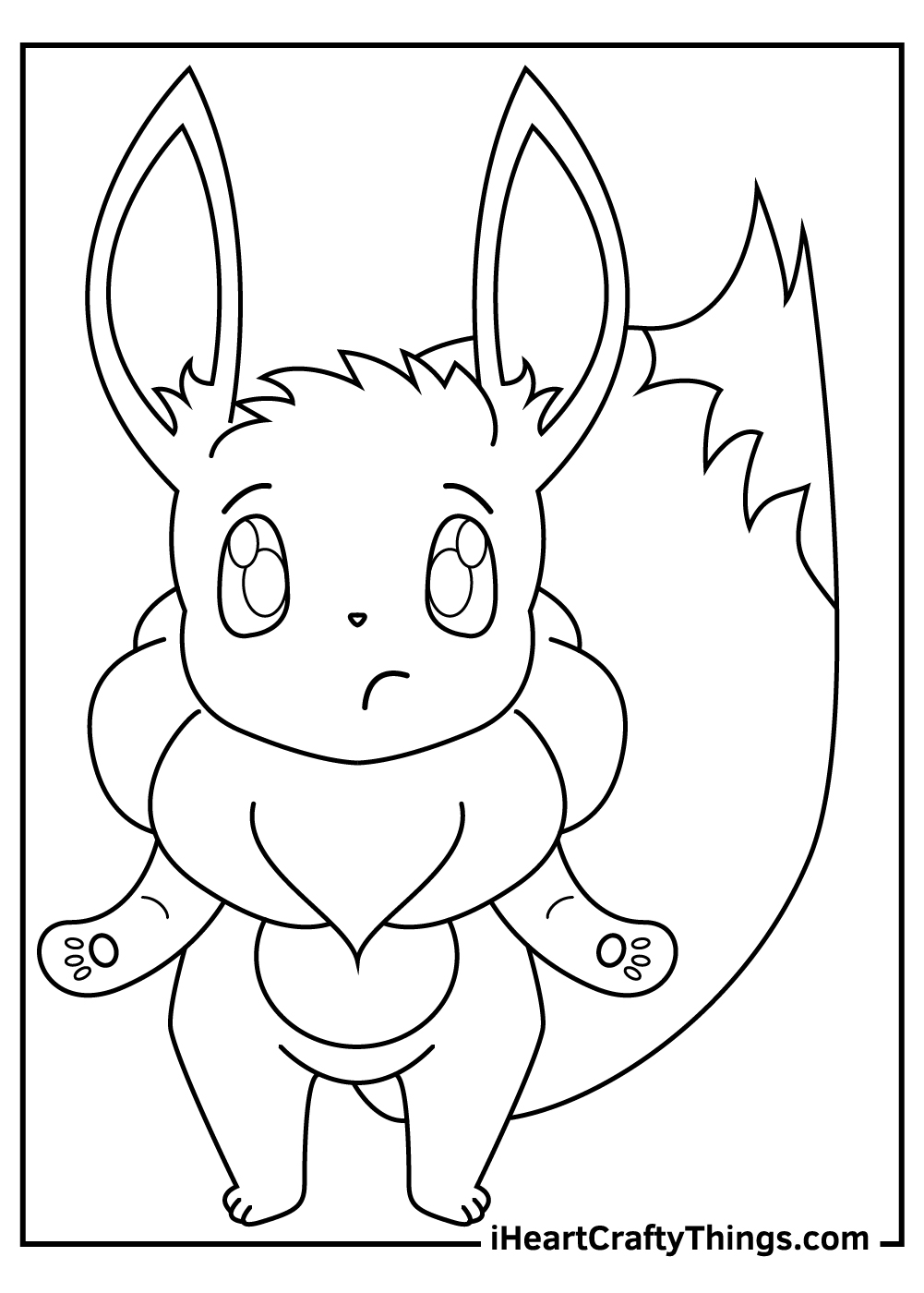 cute eevee pokemon coloring pages for preschoolers