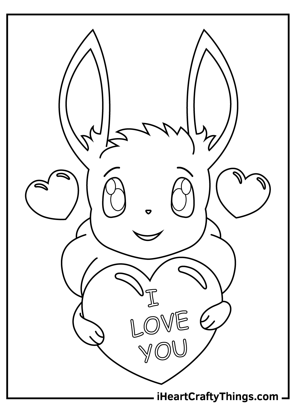 cute eevee pokemon coloring pages free pdf