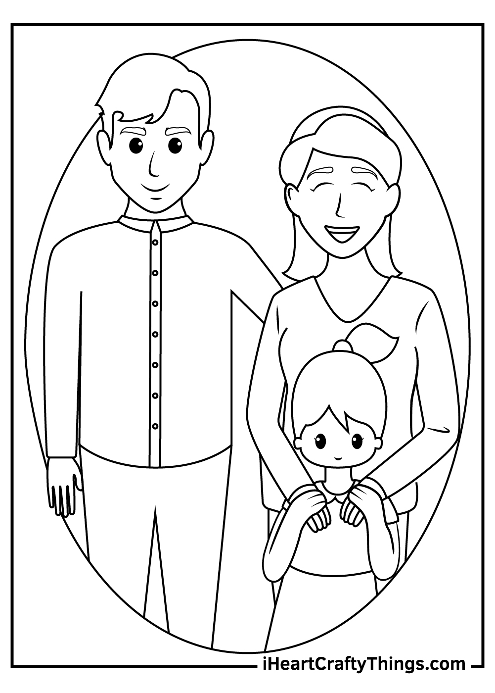 i love my family coloring pages printable pdf