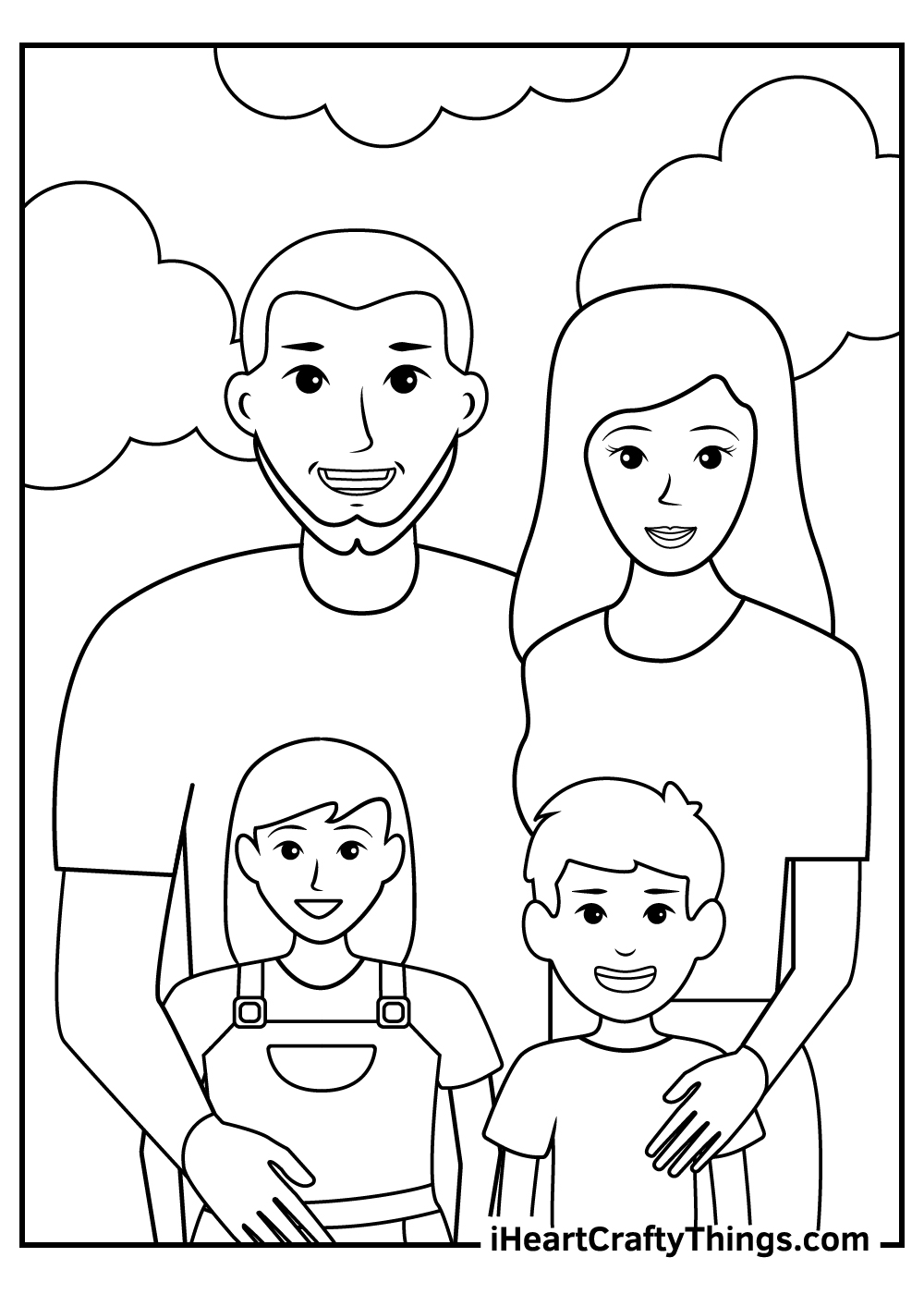big family coloring pages printable