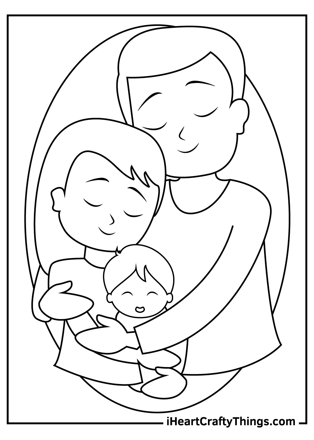 happy family coloring pages free download