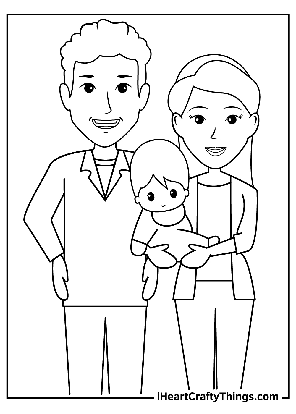 family coloring pages for toddlers