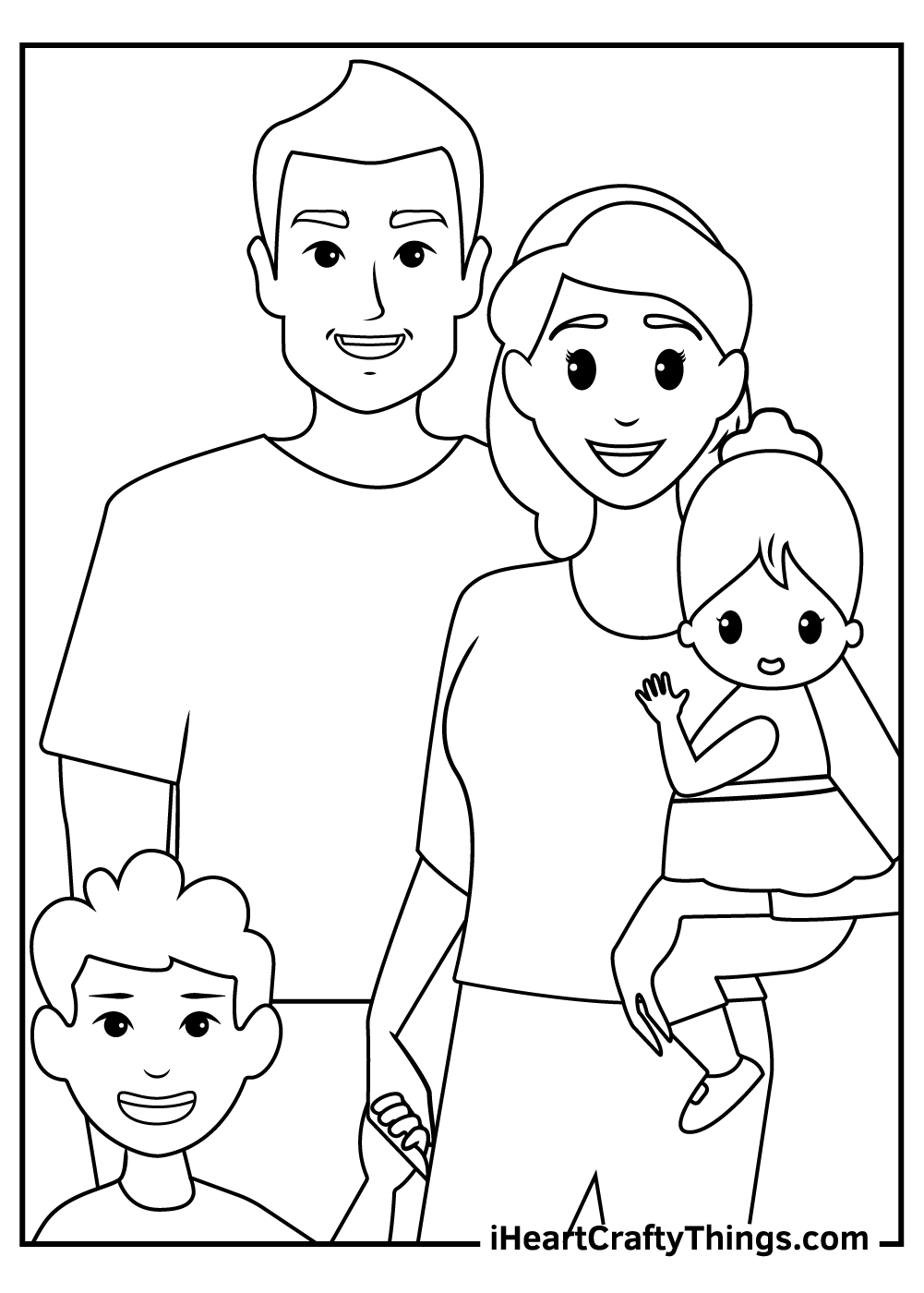 family coloring pages to print out