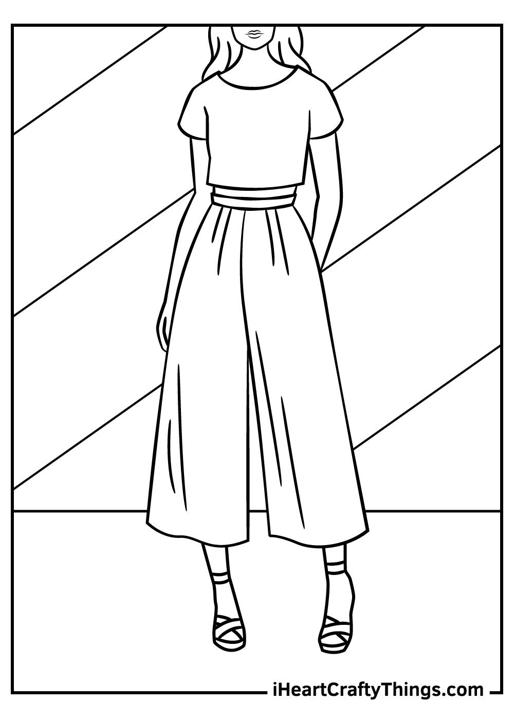 fashion coloring pages for adults free download