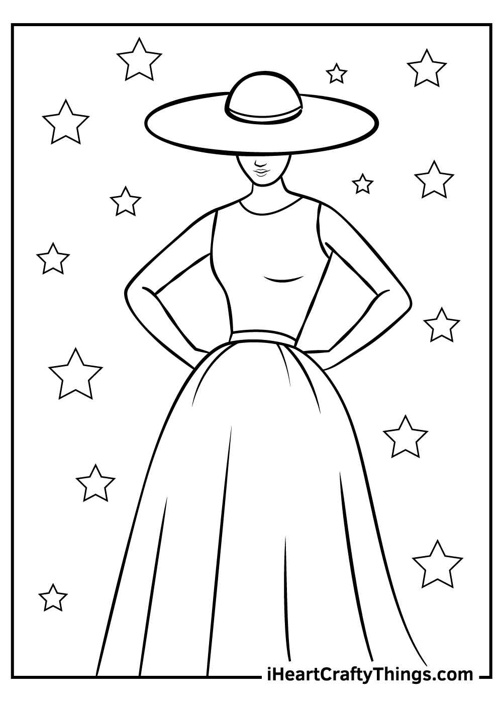 free fashion coloring pages to print