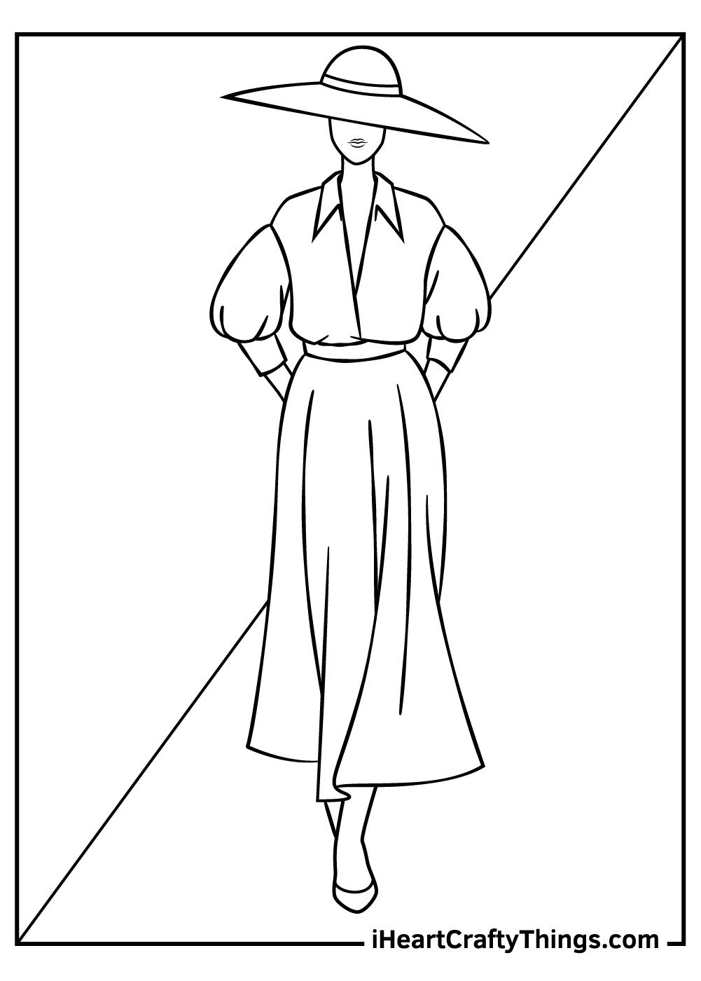 paris fashion coloring pages free printable