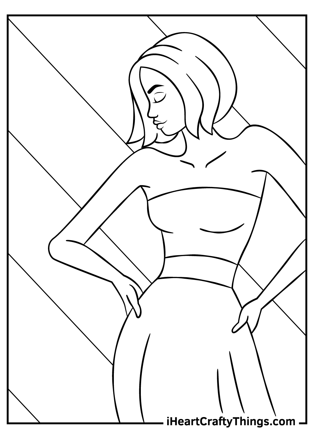 adult fashion coloring pages free printable