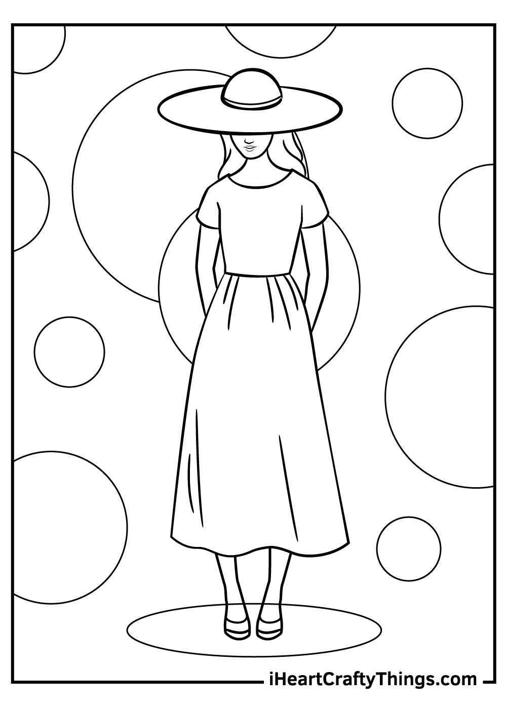 modest girl fashion coloring pages free printable