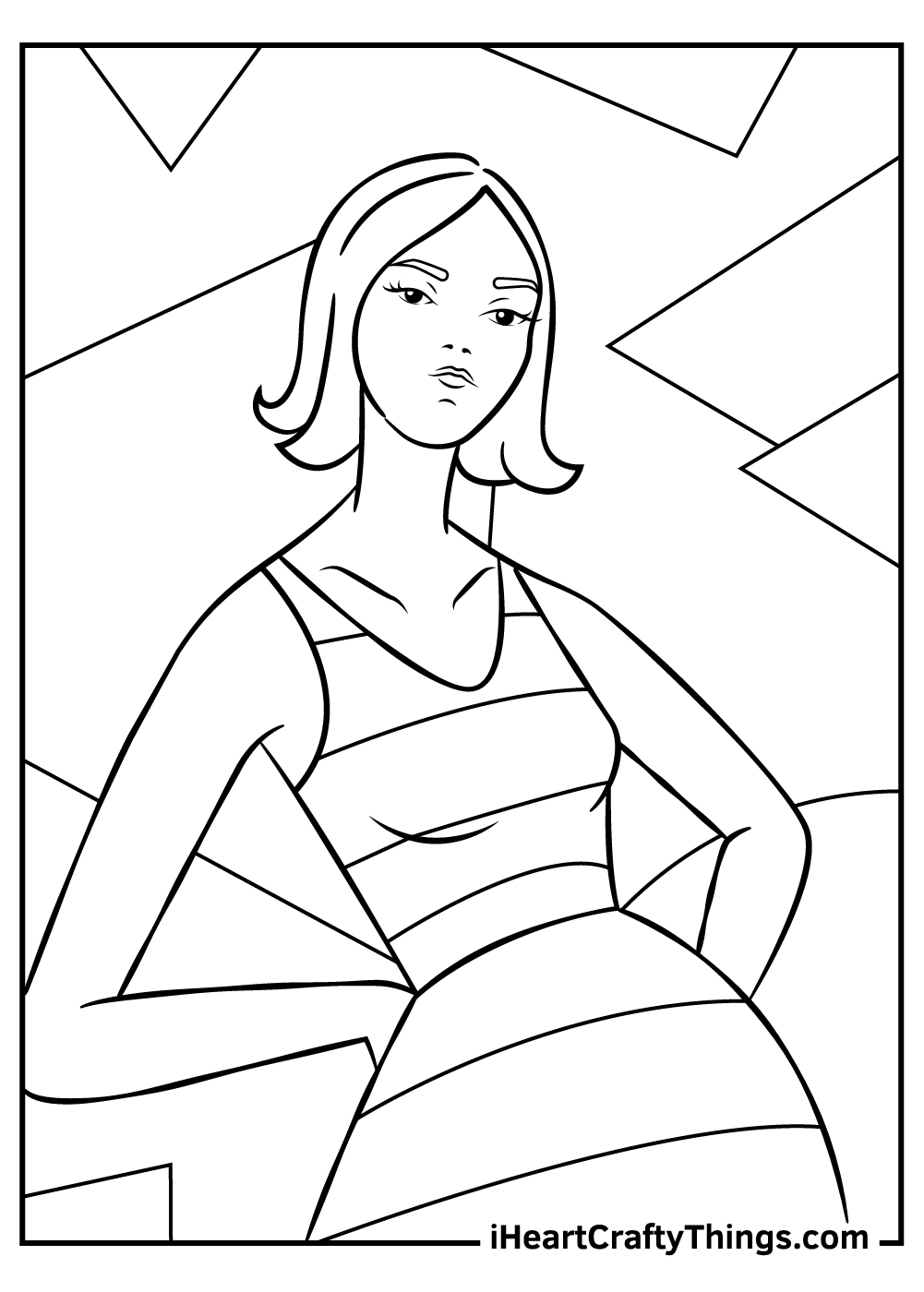1970s fashion coloring pages free printable