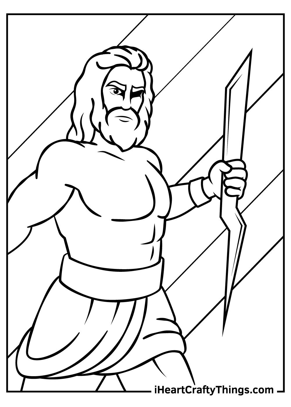 greek mythology coloring pages Zeus