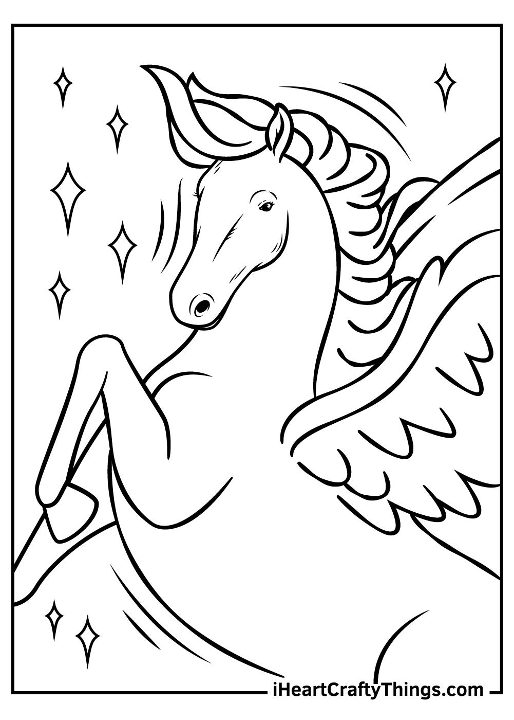 Pegasus mythology coloring pages