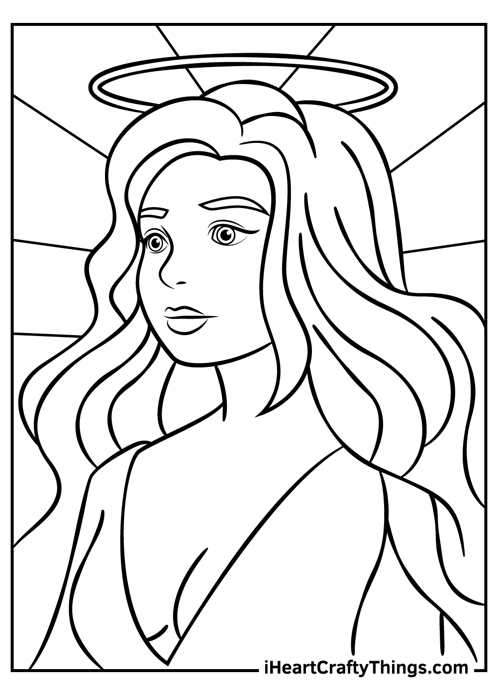 female angel fantasy and mythology coloring pages