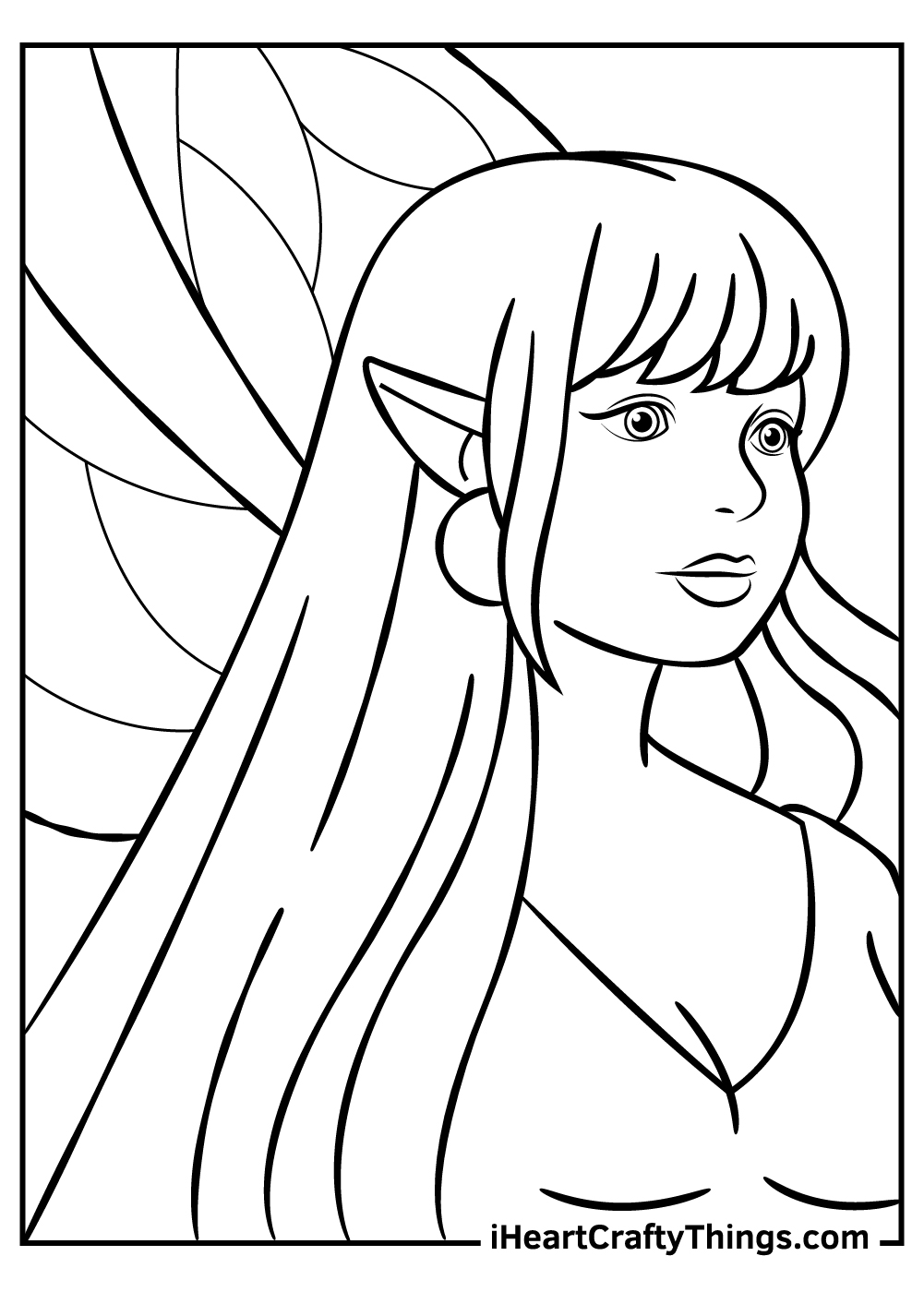 woman elf fantasy coloring pages free download