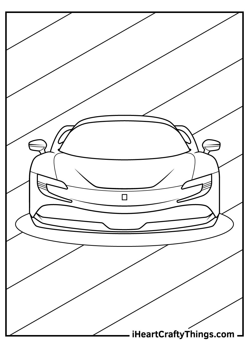 cartoon ferrari coloring pages free printables