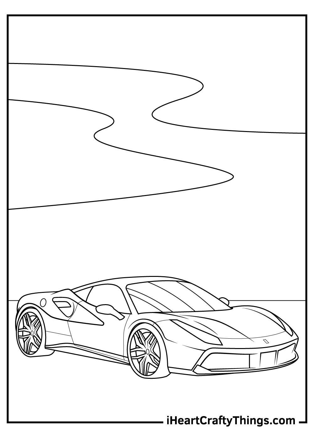 realistic ferrari coloring pages free printables