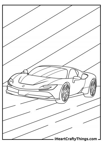 ferrari coloring image pdf