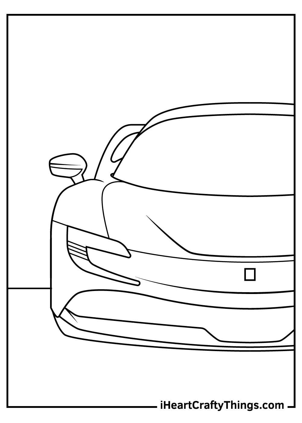 easy black and white ferrari coloring pages free download