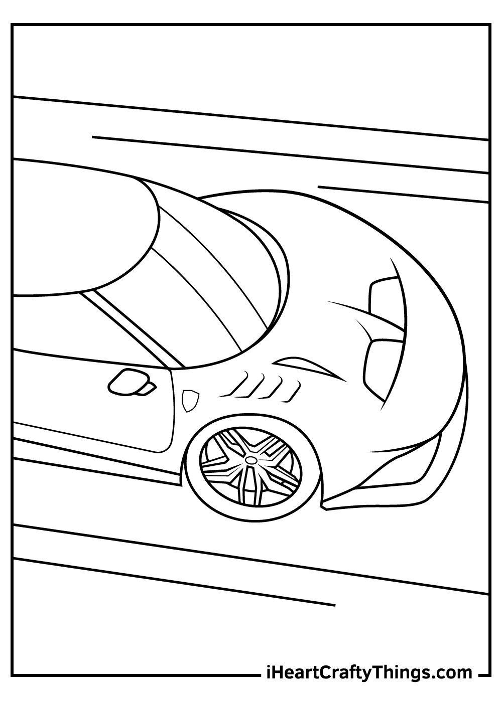 black and white ferrari coloring pages free pdf