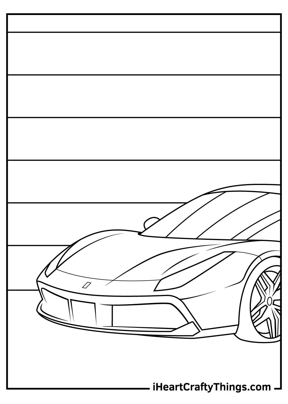 cartoon ferrari coloring sheets free printables