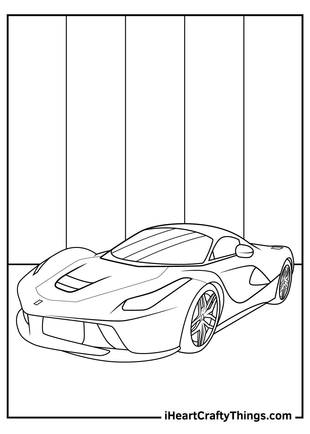 ferrari coloring pages for preschoolers free pdf