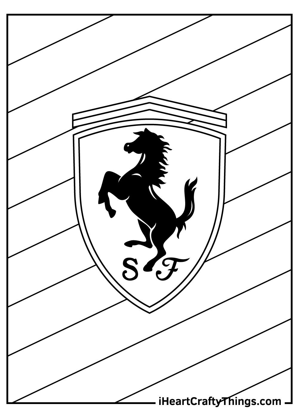 ferrari logo coloring pages free print